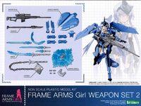 Frame Arms Girl Weapon Set 2 Model Kit