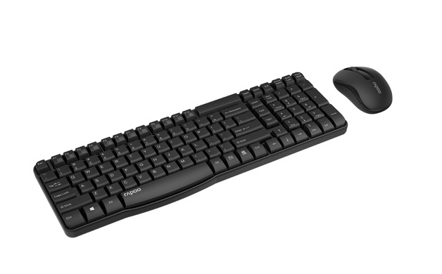 Rapoo X1800S Wireless Multimedia Keyboard And Mouse - Black