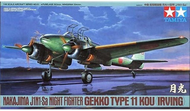 Tamiya Japanese Nakajima J1N1-Sa Night Fighter 1/48 Aircraft Model Kit
