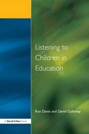 Listening to Children in Educ by Ronald Davie image