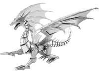 Metal Earth ICONX: Silver Dragon - Model Kit
