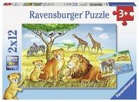 Ravensburger: Elephants Lions Company - 2x12pc Puzzle