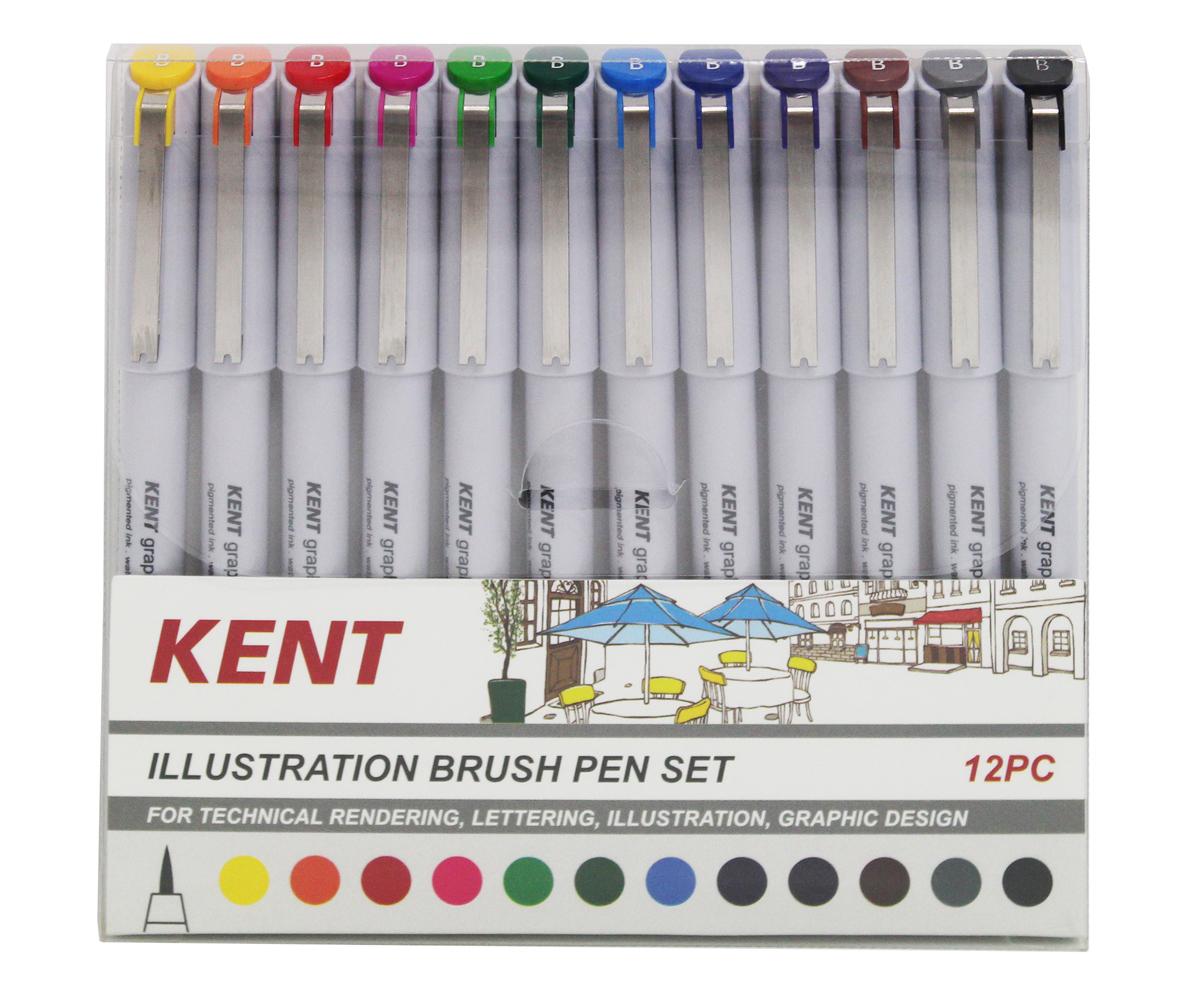 Kent: Graphic Illustration Brush Pen (Set of 12) image