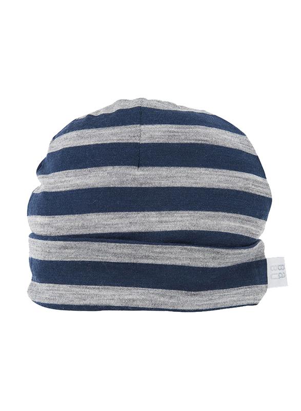 Babu: Merino Wool Hat - Navy Stripe (3-6m)