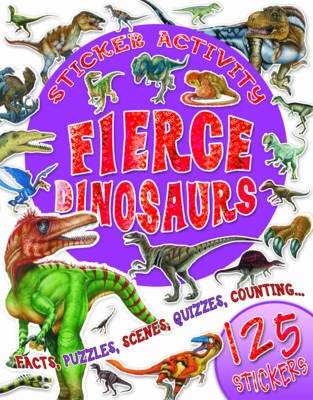 Sticker Activity Fierce Dinosaurs image