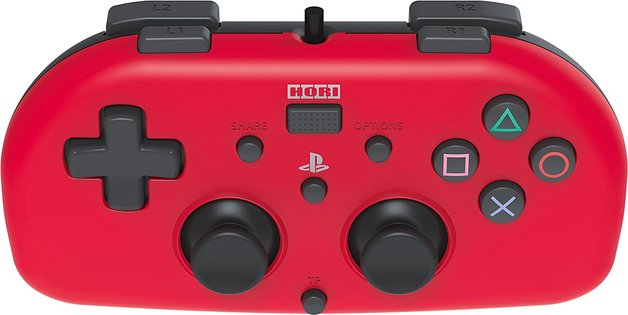 Hori PS4 Wired Mini Gamepad (Red) for PS4