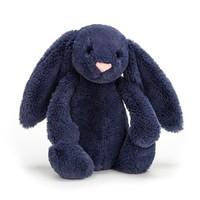 Jellycat: Bashful Navy Bunny - Medium Plush