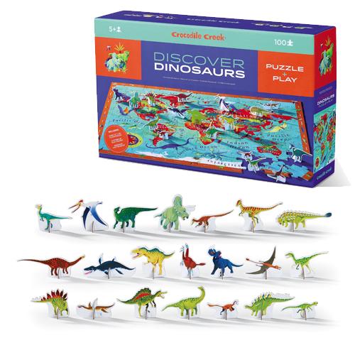 Crocodile Creek: 100-Piece Discover Puzzle - Dinosaurs