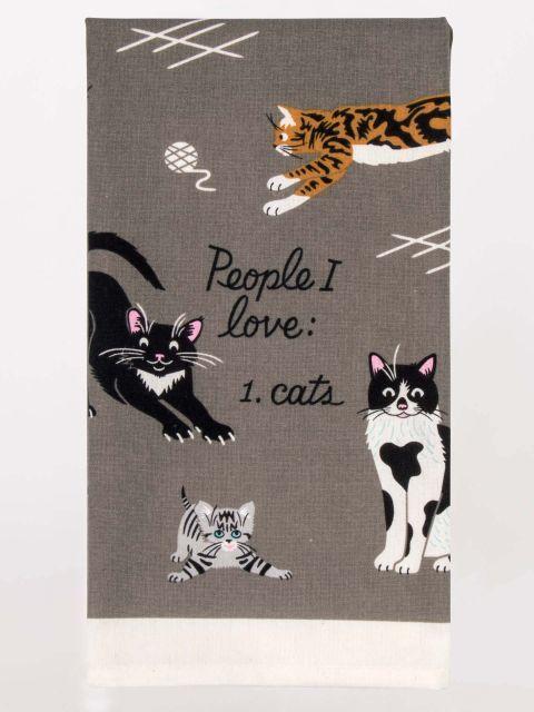 Blue Q: Tea Towel - People I Love: Cats