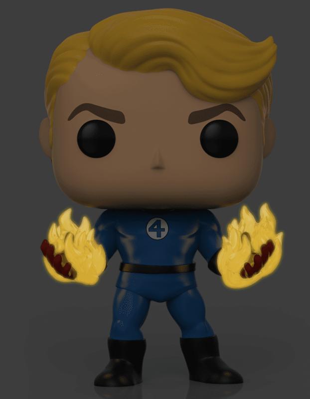 Fantastic Four: Human Torch (Suited/Glow) - Pop! Vinyl Figure