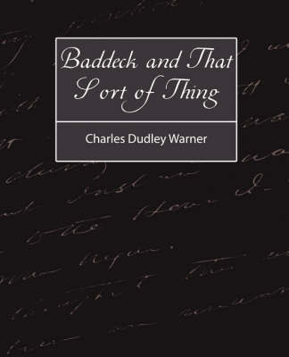 Baddeck and That Sort of Thing by Charles Dudley Warner