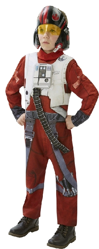 Star Wars: Kids X-Wing Pilot Poe Deluxe Costume - Large