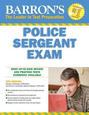 Barron's Police Sergeant Examination by Donald J Schroeder Nypd Ret image