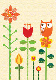 Wise Red Owl Journal (Small) by Lorena Siminovich