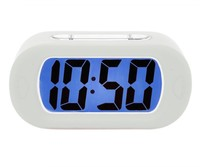 Karlsson Gummy Alarm Clock: White