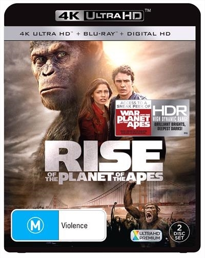 Rise Of The Planet Of The Apes on Blu-ray, UHD Blu-ray
