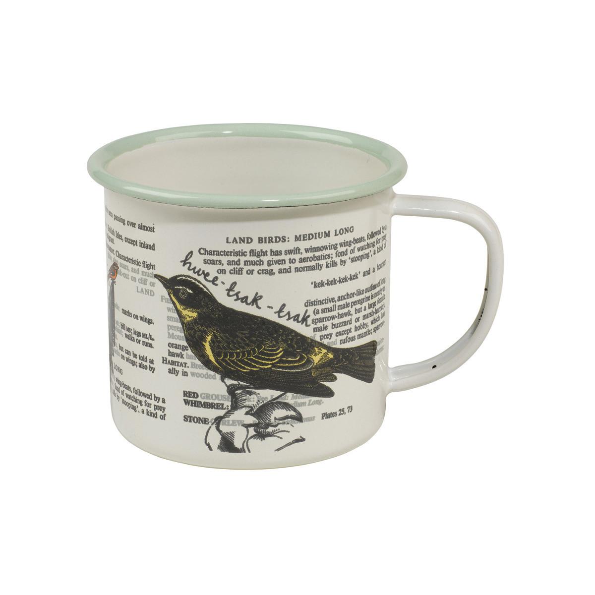 Thoughtful Gardener: Enamel Mug - Bird image