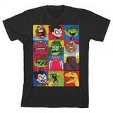 Teen Titans Go Squares Boys Tee (11-12)