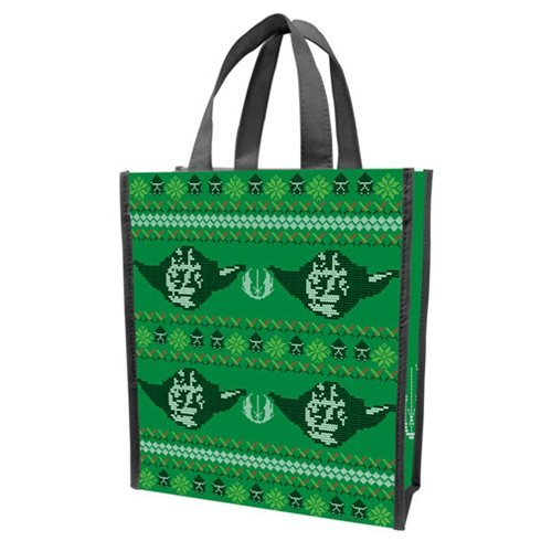 Star Wars Small Recycled Shopper Tote (Ugly Sweater Yoda)