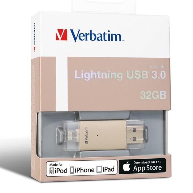 Verbatim Apple Lightning USB 3.0 Drive - 32GB (Gold)