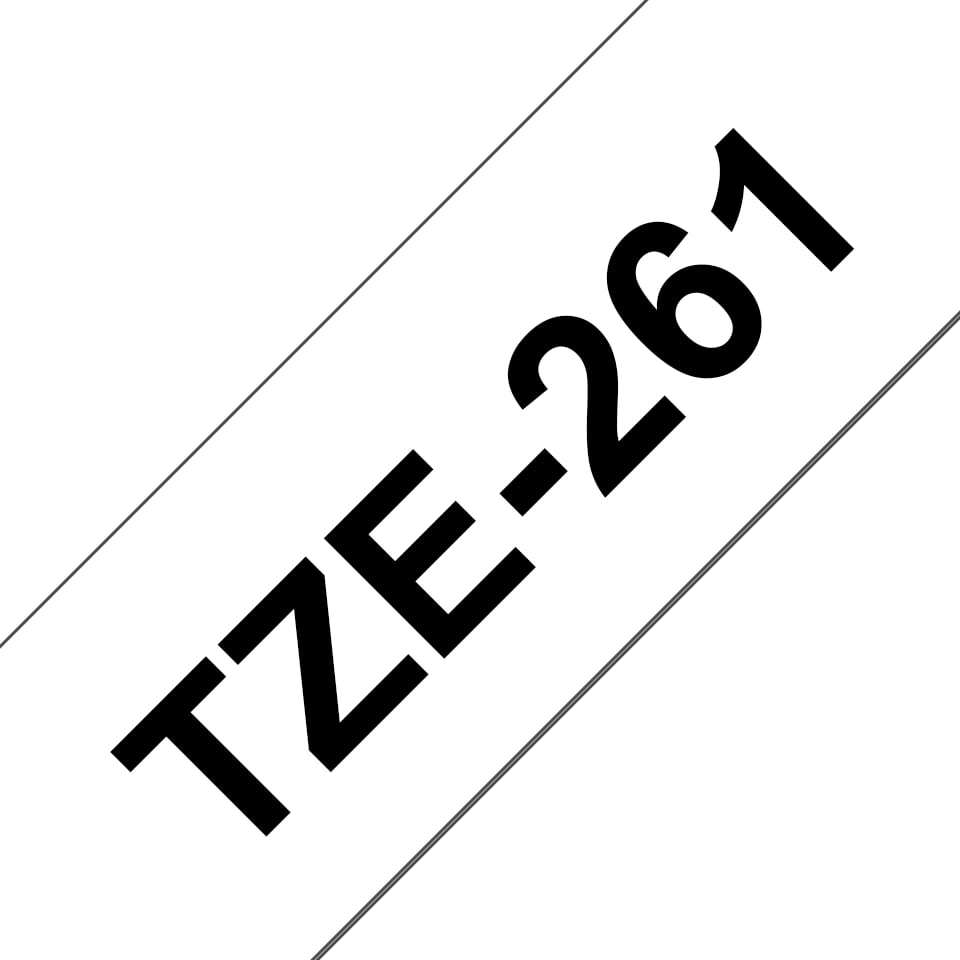Brother TZe-261 Labelling Tape Cassette - Black on White (36mm x 8m) image