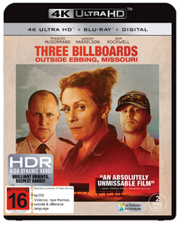 Three Billboards Outside Ebbing, Missouri (4K UHD + Blu-ray) on UHD Blu-ray