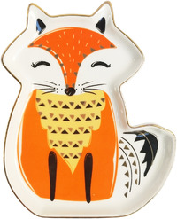 Sitting Fox Trinket Dish (15cm)