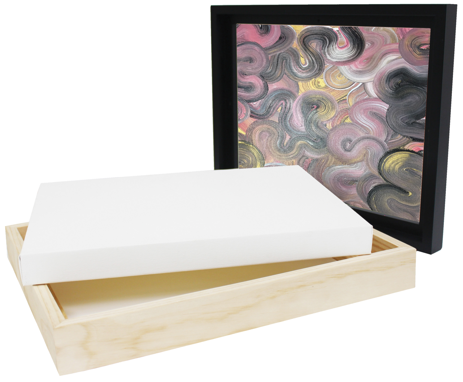 Jasart: Floater Frame - Natural (Thick Edge/12x16inch) image