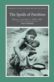 Cambridge Studies in Indian History and Society: Series Number 15 by Joya Chatterji image