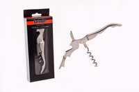 French Style Stainless Steel Waiter's Corkscrew