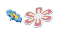 Esselte Novelty Flowers Pins - Assorted Colours (Pkt 8)