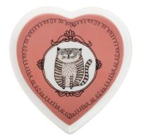 Maxwell & Williams: Purrfect Heart Shape Plate - Coral (14cm)