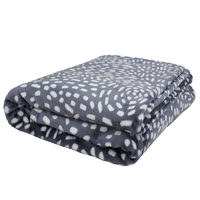 Bambury Queen Cosmos Ultraplush Blanket (Slate)