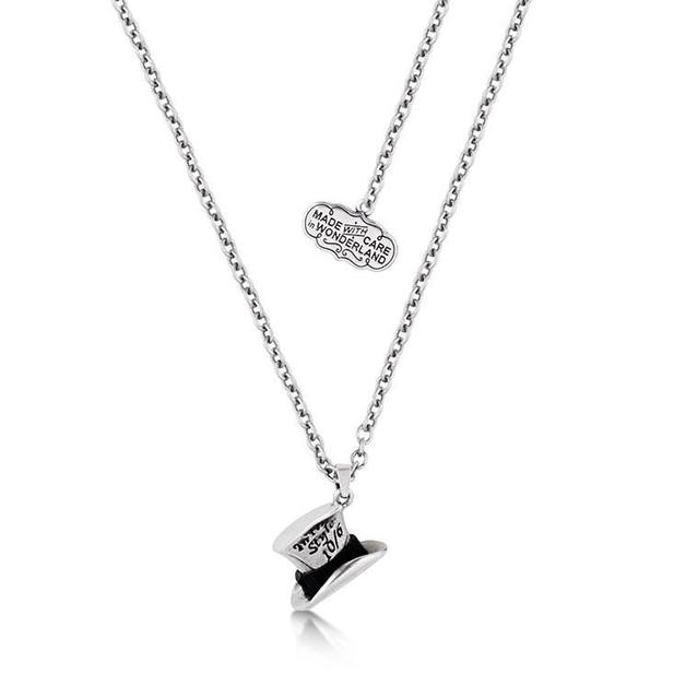 Couture Kingdom: Disney Silver Mad Hatter Necklace- White Gold
