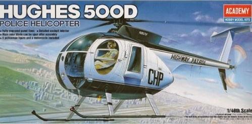Academy Hughes 500D Police 1/48 Model Kit