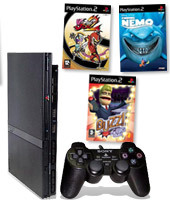 PlayStation 2 Console + Buzz!: The BIG Quiz, Viewtiful Joe 2 & Finding Nemo for PlayStation 2