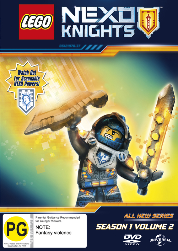 Lego Nexo Knights: Season 1 - Volume 2 on DVD