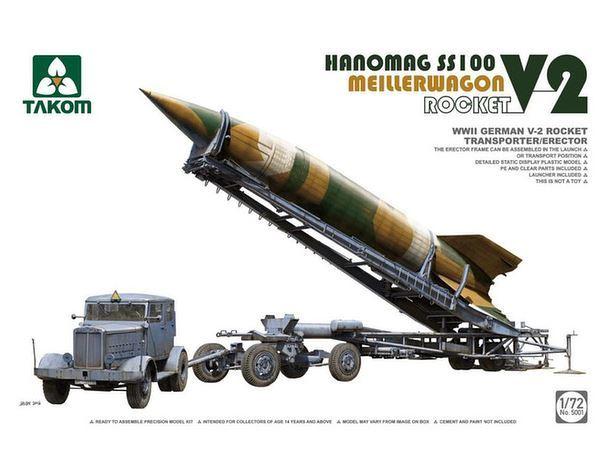 Takom: 1/72 WW.II German V-2 Rocket, Meillerwagon, Hanomag SS100 Model Kit image