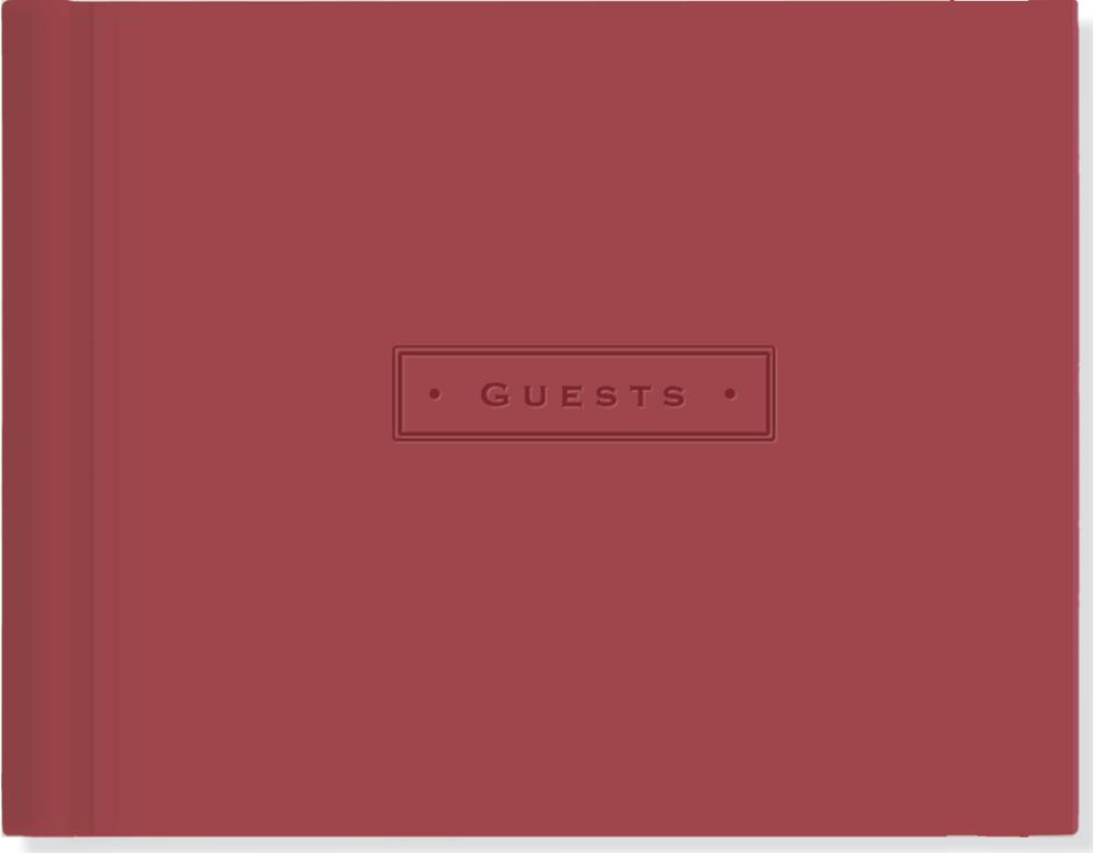 Artisan Guest Book (Burgundy) by Peter Pauper Press image