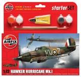 Airfix Hawker Hurricane MkI 1/72 Model Kit Starter Set