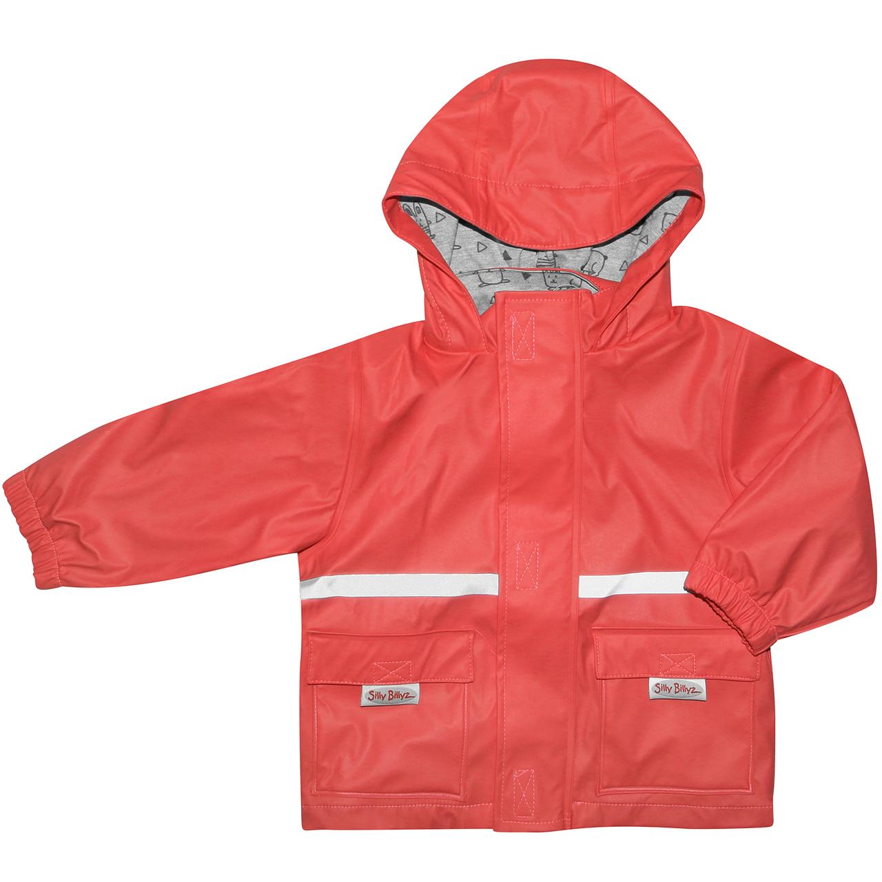 Silly Billyz Waterproof Jacket - Red (3-4 Yrs) image