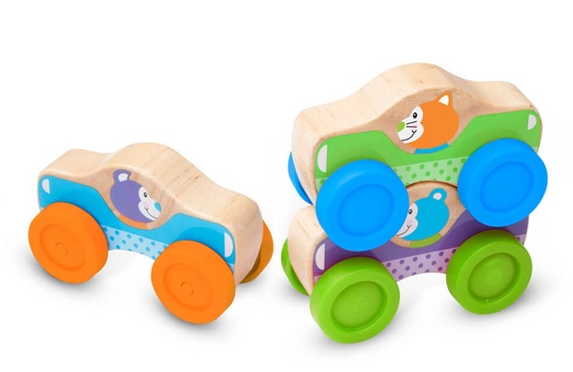 Melissa & Doug: Animals Stacking Cars