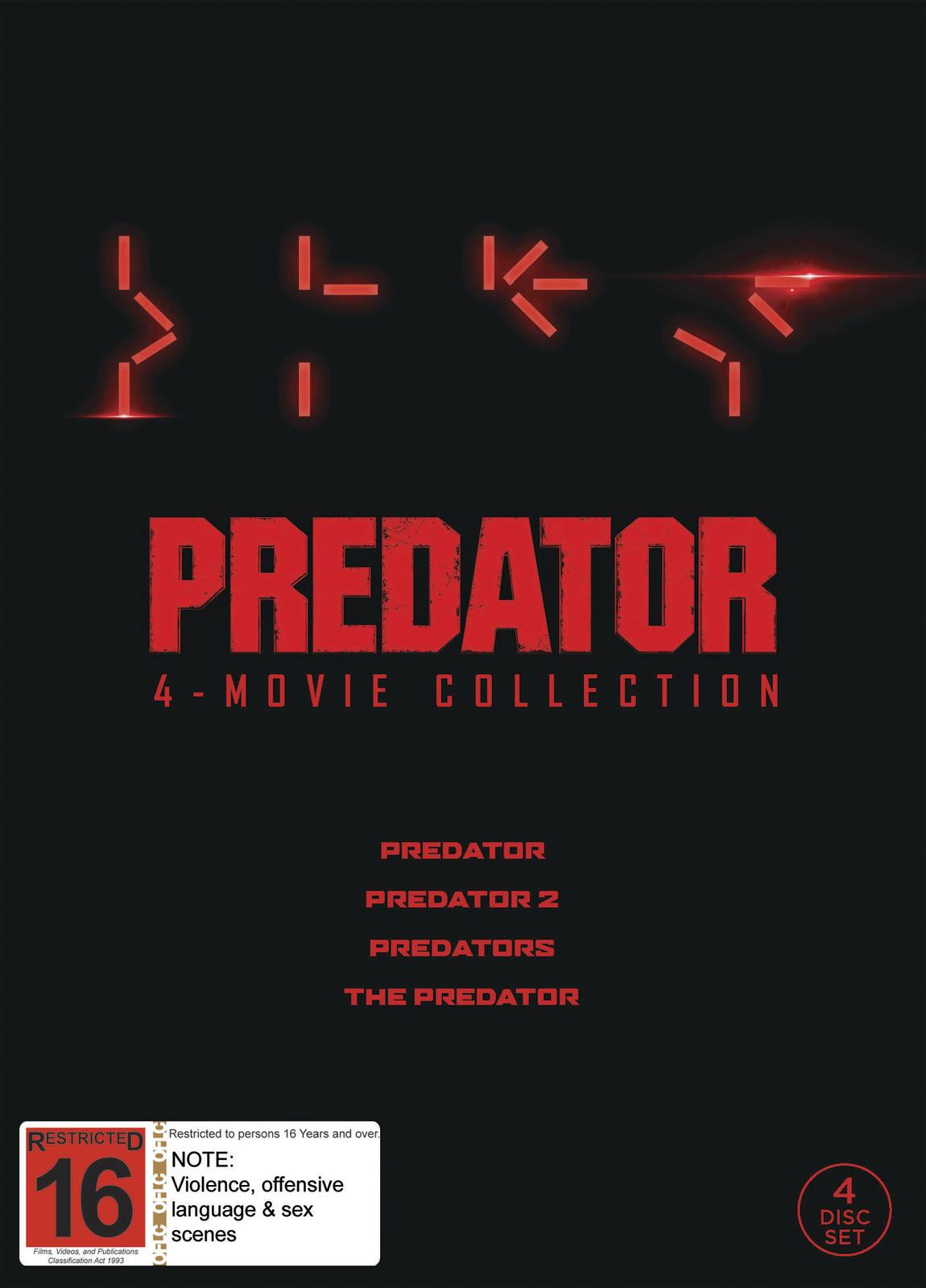 Predator 1-4 Boxset on DVD image
