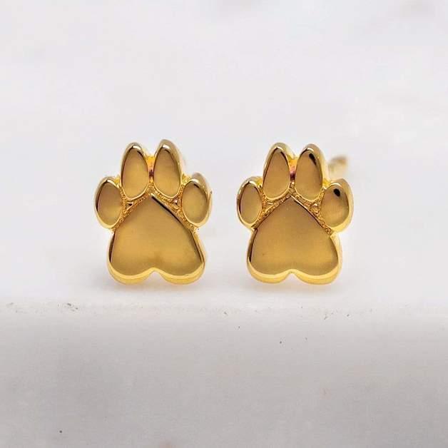 Midsummer Star: Cub Paw Studs - Gold