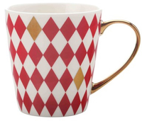 Maxwell & Williams Aurora Mug Gold Handle 300ML Diamond Red