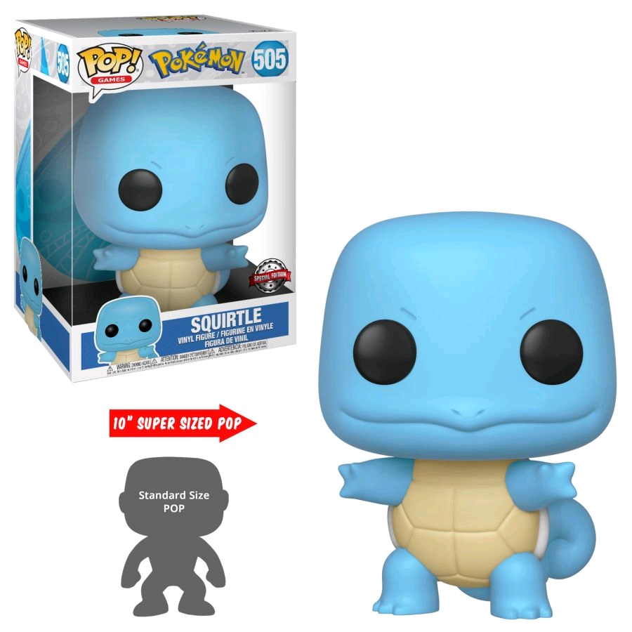 "Pokemon: Squirtle – 10"" Super Sized Pop! Vinyl Figure image"
