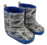 Hi-Hop Camo Rainboots (18-24 Months) - Grey/Blue