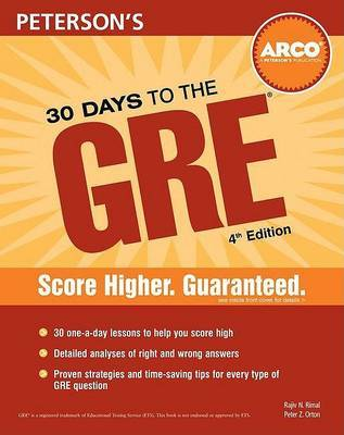 30 Days to the GRE CAT by Peterson's
