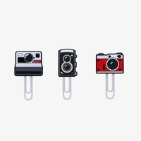 Mustard: ClipIt - Cameras Hanging photo / Note Clips