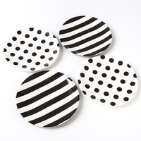 Kate Spade Melamine Tidbit Plates (Dots & Stripes)
